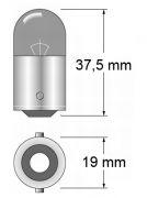Glühbirne Leuchtmittel Osram 24 Volt 10 Watt BA15s
