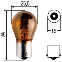 Glühbirne 24 Volt 21 Watt Blinkerbirne gelb PY21W, BAU15s - 7510TSP