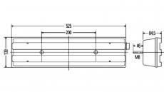 Schlussleuchte Hella 2VD 007 500-411 für Actros - Atego - Axor links DAF  DOLL  Kempf